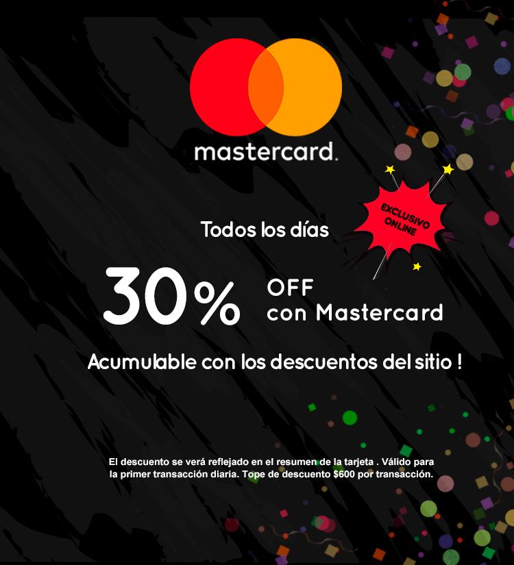 Slider - MasterCard 30 OFF